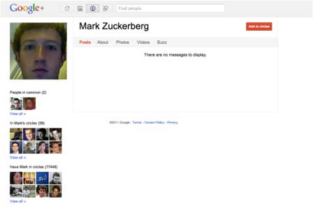 Zuckerberg On Google+